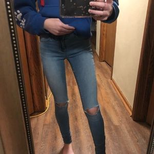 Two pair of skinny jeans
